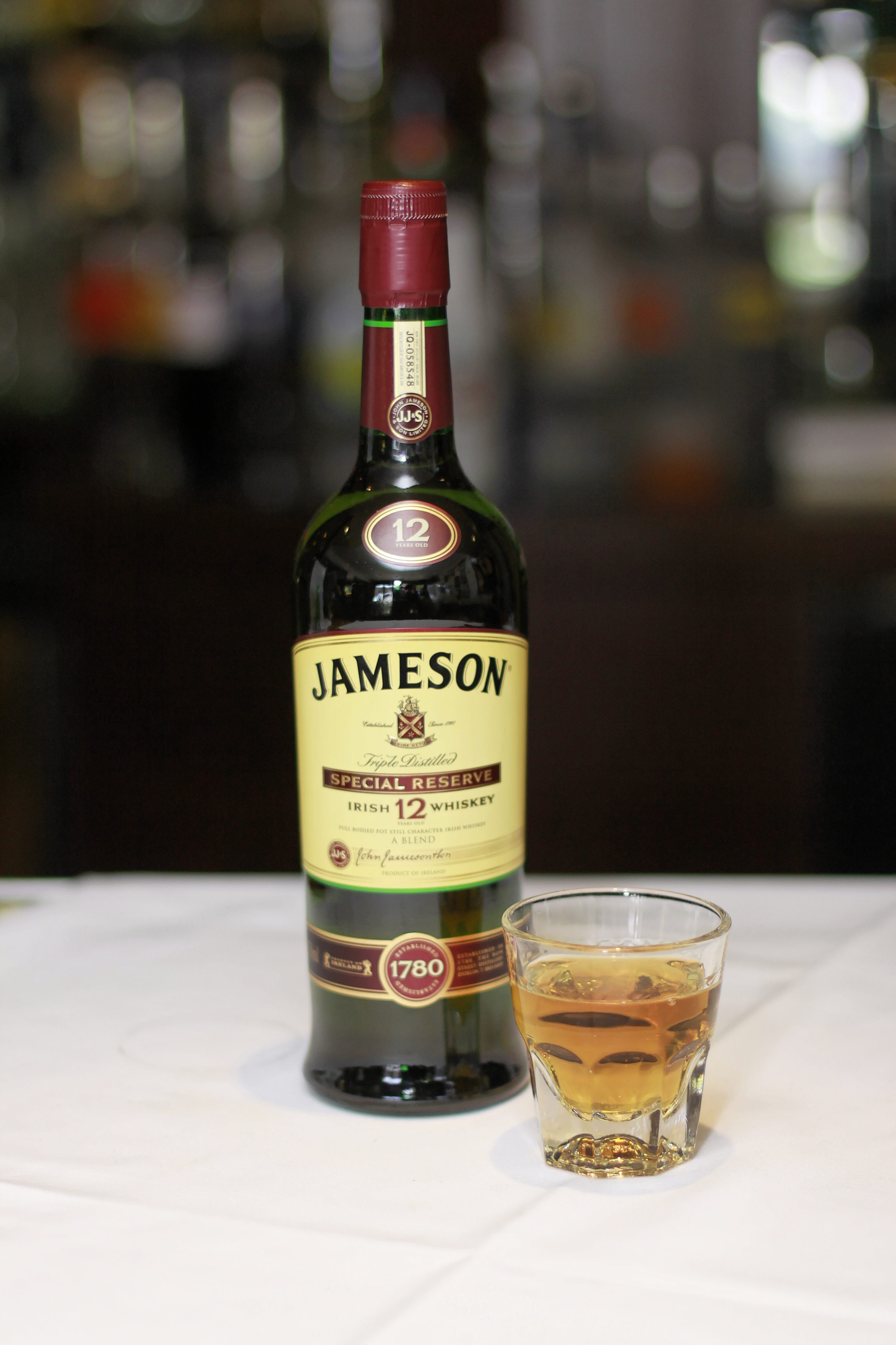 A bottle of Jameson at Crogan's
